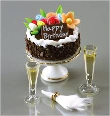 Reutter Birthday Cake And Champagne Set Dollhouse Junction