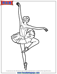 Ballet Position Coloring Page Free Printable Coloring