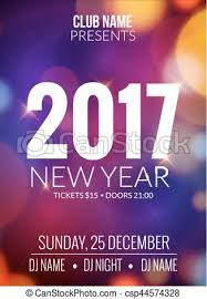 celebration flyer template. New year party design banner event celebration flyer template bokeh