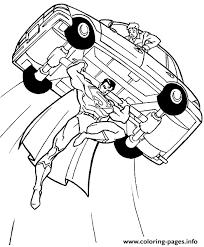 Superman coloring pages, superman is flying fast to help people,superhero character coloring. Superman Flying With A Car Coloring Pageba0a Coloring Pages Printable