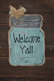 Decorating With Mason Jars And Burlap 100 best Mason Jar Door Hangers images on Pinterest Burlap door 99