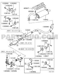 Mitsubishi parts diagram new exhaust pipe muffler engine lnhcql6c ea3w