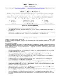 electrical designer resume