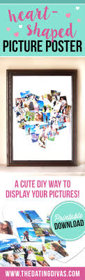 heart shaped picture collage templates