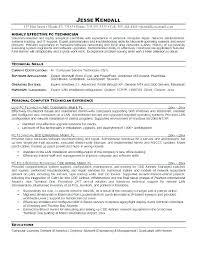 Service Tech Resume Computer Tech Cover Letter Computer Technician Resume Template