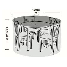 premium 4 seater round furniture set cover 180cm