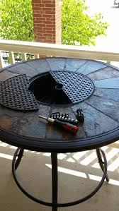round aluminum bar table