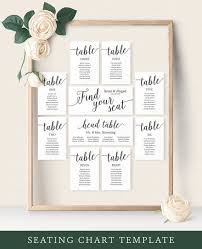 Wedding Seating Chart Cards Template Seating Chart Wedding Template Wedding Seating Chart Cards