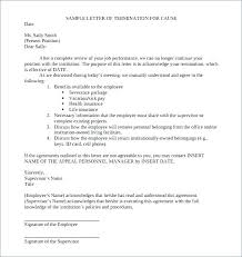 Sample Of A Termination Letter To An Employee 15 Termination Letter To Employee Vacation Budget