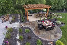 patio designs. Attractive Backyard Stone Patio Design And Construction In Designs S