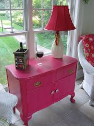pink painted furniture. DIY Painted Furniture..I Love The Idea Of A Bright Piece  Furniture Like This In Room..great Storage Plus Cheefulness..♥ Pink N