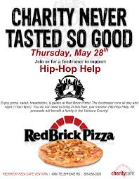 hip hop help red brick pizza fundraiser org come out and support this event by mentioning hip hop help when you order and bring a friend microsoft word flyer template docm