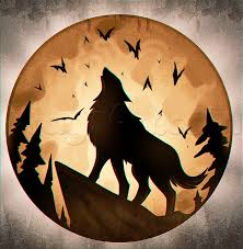 howling wolf moon drawing. Unique Wolf Drawing A Howling Halloween Moon Added By Dawn September 26 2015  13541 Pm For Howling Wolf Moon O