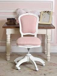 shabby chic office desk. Love The Pink Linen Office Chair And That Little Detailing On Wood. Shabby Chic Desk