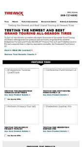 Tire Rack Review Chart Testing The Newest And Best Grand Touring All Season Tires