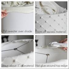 Diy Lampshade Diy Lampshade Tutorial Using A Sweater Unskinny Boppy