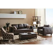 Leather Sofa Makeover How To Style A Dark Leather Sofa Den Makeover Mesmerizing Accent