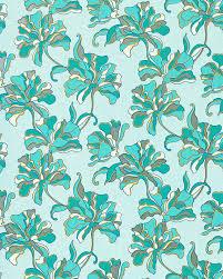 Bloemen Behang Structuur Vinylbehang Edem 072 22 Design Behangpapier Turkooisblauw Licht Blauw Wit Geel Zilver