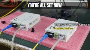 WDM 20 km Single Fiber <b>Fast Ethernet Media Converters</b> Installation