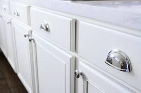 white kitchen cabinets chrome pulls hardware