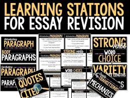 revision learning stations room  my tenth grade students have been immersed in the writing process this week their task is to complete a persuasive research essay but we took our time