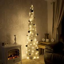 Decorating Christmas Tree With Balls Decoration Ideas Gorgeous Slim White Pre Lit Christmas Tree 83
