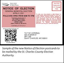 county to change election postcards
