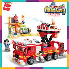 Bộ Đồ Chơi Xếp Hình Thông Minh Lego Qman 12013 - Xe Ô Tô Cứu Hỏa Và Trạm  Bơm Nước 539 Mảnh Ghép Cho Trẻ Từ 6 Tuổi tại Hà Nội