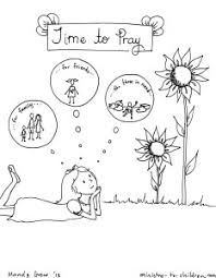 Small Picture Day 3 Time to Pray coloring page for children Childrens
