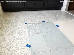 can i paint bathroom tile. Tips For Painting Bathroom Tile With Floor Stencils Can I Paint