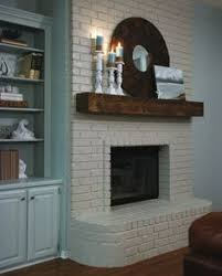 painting a fireplace whiteGrey Paint Wash On A Brick Fireplace Before  After  Bricks