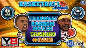 basketball legends by y8 gameplay