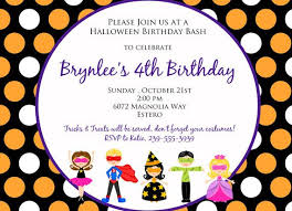 Halloween Kids Party A 5x7 Halloween Party Birthday