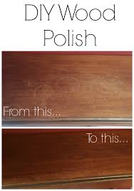 love this easy recipe for diy wood polish using lemon and olive oil