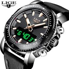 Shop <b>Lige New LIGE Mens Watches</b> Top Brand Luxury Sports ...