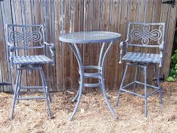 landgrave cast classic woodard outdoor patio 2 bar stools bistrol table 3 pcs