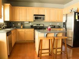 Kitchen Cabinets Refrigerator Kitchen Brown Bar Stools Brown Kitchen Cabinets Brown Wall