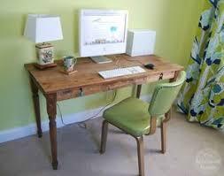 Printer's Writing Desk Plan from The Borrowed Adobe