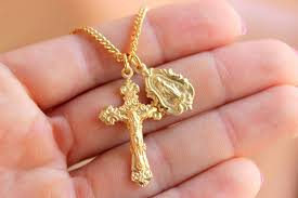 best er gold crucifix cross pendant