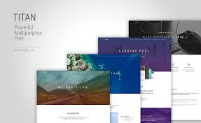 Portfolio Website Templates Interesting Titan One Page Multi Page HTML48 Bootstrap Multipurpose Template