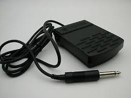 "Sustain Damper <b>Pedal Flat Foot Switch</b> Yamaha With 1/4"" Jack | eBay"