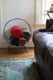 Best 25+ Blanket holder ideas on Pinterest | DIY quilting rack ... & A Hairstylist's Quirky, Colorful Home & Salon Adamdwight.com