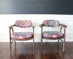updating vine midcentury eck adams chairs with fabric from tonic living