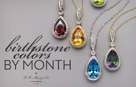 birthstone colors by month