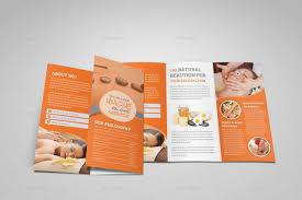 Spa Brochure Template Spa Beauty Salon Trifold Brochure Template by JanySultana 1