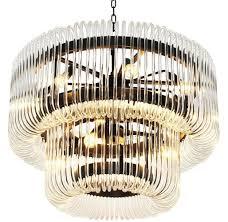 Casa Padrino Luxus Kronleuchter Bronze Klares Glas ø 80 X H 70 Cm Runder Wohnzimmer Kronleuchter