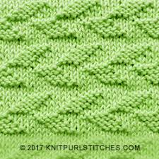 Leaf Knitting Pattern Simple Alternating Welted Leaf Knit Purl Stitches