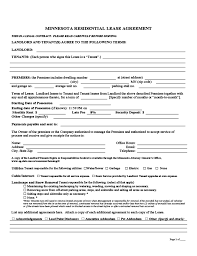 Minnesota Month-To-Month Lease Agreement Free Download
