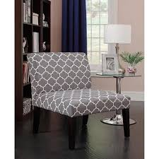 gray and white accent chair. Beautiful Chair Emily Accent Chair Graywhite Pattern Inside Gray And White Chair A