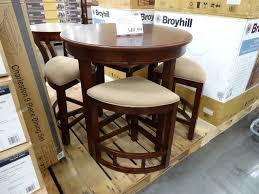 5 Piece Round Table Dining Set Amazoncom Baxton Studio Napoleon